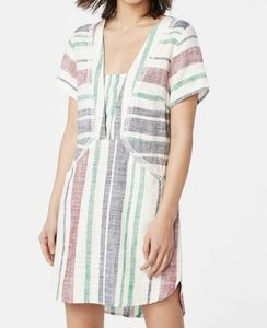 Justfab linen shift dress